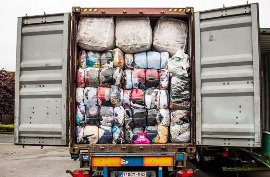 geladen container WMH 535
