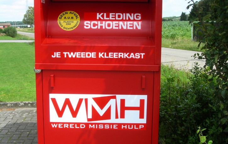 rode kledingcontainer WMH