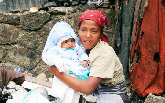 caregiver en weeskind project Ethiopie