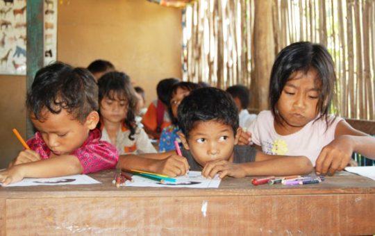 kinderen school cambodja