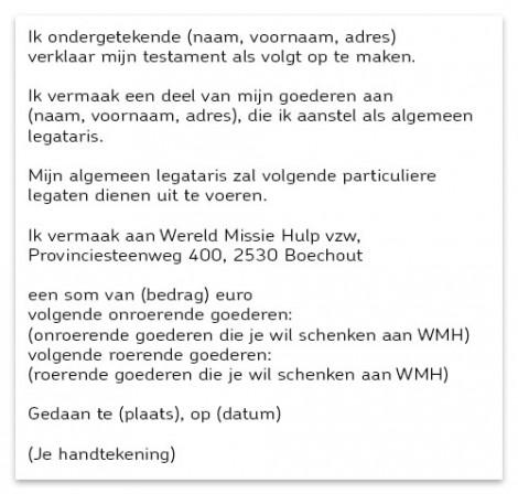 vb testament 1 schenking WMH