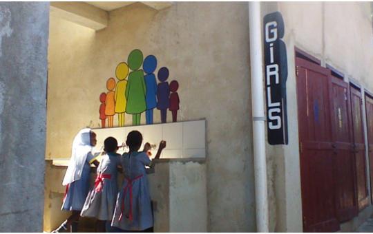 rainbow4kids sanitair blok meisjes