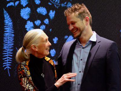 Koen Timmers en Jane Goodall (copyright Søren Decraene)